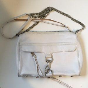 Rebecca Minkoff White Mac Leather Crossbody Bag
